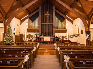 Our Sanctuary, decorated for Christmas Eve